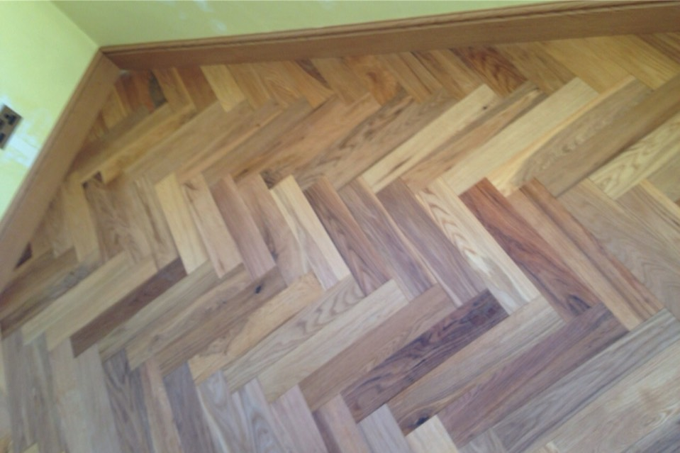 Oak Rustic Parquet Block Flooring
